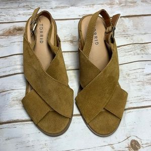 Torrid Cognac Stacked Heeled Sandal